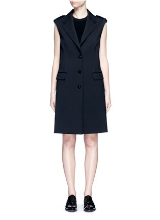 Main View - Click To Enlarge - Neil Barrett - Virgin wool blend twill oversize sleeveless jacket