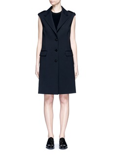 Neil BarrettVirgin wool blend twill oversize sleeveless jacket