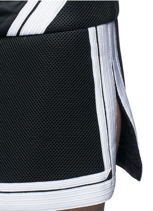 Detail View - Click To Enlarge - Neil Barrett - Contrast stripe tech mesh skirt