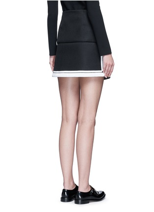 Back View - Click To Enlarge - Neil Barrett - Contrast stripe tech mesh skirt