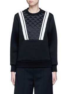NEIL BARRETTContrast stripe bonded jersey sweatshirt