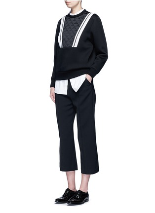 Figure View - Click To Enlarge - Neil Barrett - Contrast stripe bonded jersey sweatshirt
