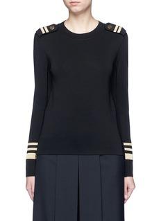 NEIL BARRETTMetallic stripe Milano knit sweater