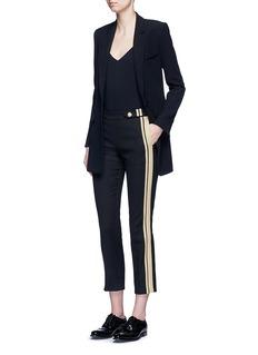 Neil BarrettMetallic stripe cotton pants