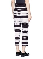 Stripe cropped silk pants