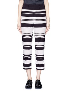Neil Barrett Stripe cropped silk pants
