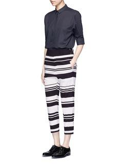 NEIL BARRETTStripe cropped silk pants