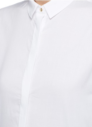 Detail View - Click To Enlarge - Neil Barrett - Cotton muslin shirt