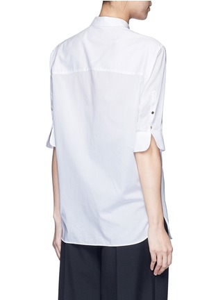 Back View - Click To Enlarge - Neil Barrett - Cotton muslin shirt