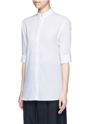 Front View - Click To Enlarge - Neil Barrett - Cotton muslin shirt