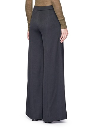 Back View - Click To Enlarge - Acne Studios - 'Melora' wide leg flared wool blend pants