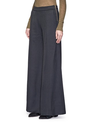 Front View - Click To Enlarge - Acne Studios - 'Melora' wide leg flared wool blend pants