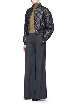 Figure View - Click To Enlarge - Acne Studios - 'Melora' wide leg flared wool blend pants