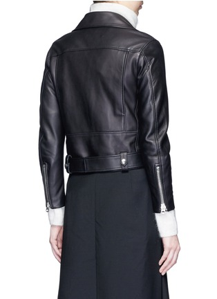 Back View - Click To Enlarge - Acne Studios - 'Mock' lambskin leather motorcycle jacket