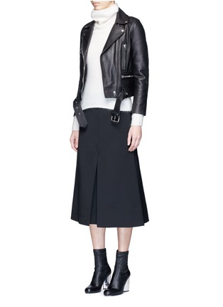 Figure View - Click To Enlarge - Acne Studios - 'Mock' lambskin leather motorcycle jacket