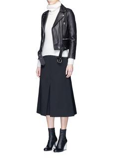 Acne Studios'Mock' lambskin leather motorcycle jacket