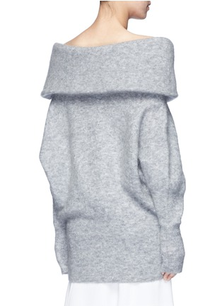 Back View - Click To Enlarge - Acne Studios - 'Daze' foldover collar mohair blend sweater
