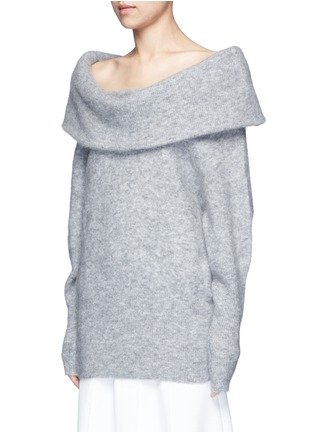 Front View - Click To Enlarge - Acne Studios - 'Daze' foldover collar mohair blend sweater