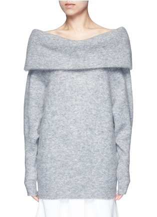 Main View - Click To Enlarge - Acne Studios - 'Daze' foldover collar mohair blend sweater