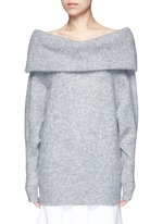 'Daze' foldover collar mohair blend sweater