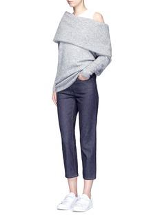 ACNE STUDIOS'Daze' foldover collar mohair blend sweater