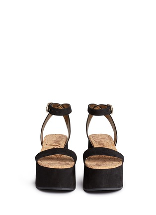 Front View - Click To Enlarge - Sam Edelman - 'Henley' suede platform sandals