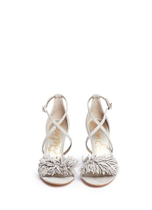 Front View - Click To Enlarge - Sam Edelman - 'Aisha' fringe suede sandals