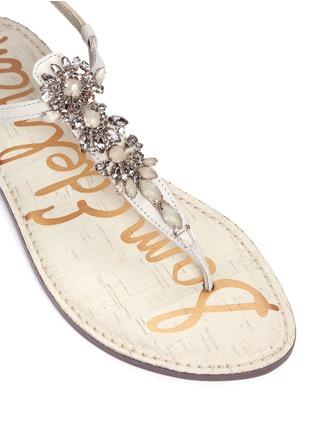 Detail View - Click To Enlarge - Sam Edelman - 'Gene' embellished leather sandals