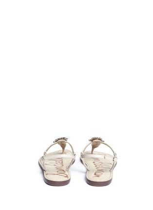 Back View - Click To Enlarge - Sam Edelman - 'Gene' embellished leather sandals