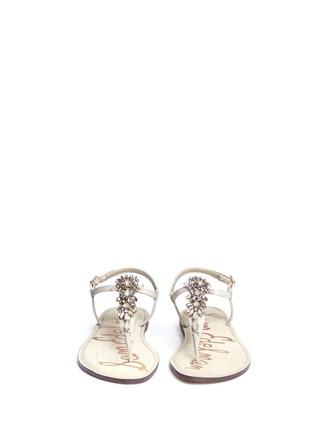 Front View - Click To Enlarge - Sam Edelman - 'Gene' embellished leather sandals