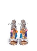 'Azela' pompom tassel mirror sandals