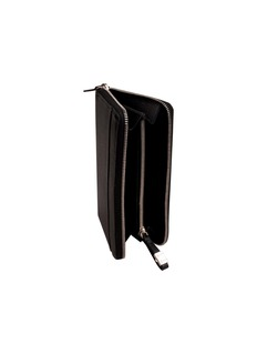 Globe-Trotter Zip around purse – Black
