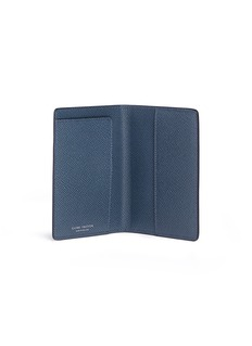 Globe-Trotter Saffiano leather passport holder