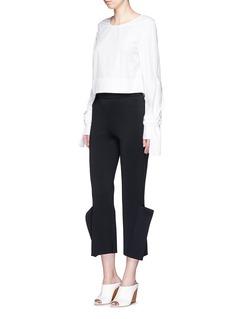 STELLA MCCARTNEY'Strong Shapes' knit winged pants