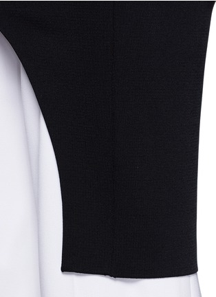 Stella McCartney - Off-shoulder cutout knit tunic