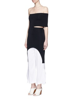 STELLA MCCARTNEY Off-shoulder cutout knit tunic