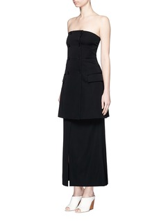 STELLA MCCARTNEY Double breasted strapless wool dress