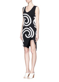 STELLA MCCARTNEY 'Pembroke' ribbon swirl embroidery cady dress