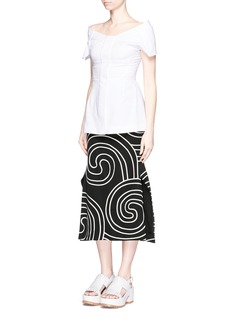 STELLA MCCARTNEY Swirl embroidery winged skirt
