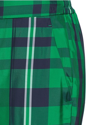 Detail View - Click To Enlarge - Stella McCartney - 'Julia' gingham check elastic back jogging pants