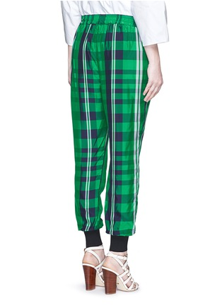 Back View - Click To Enlarge - Stella McCartney - 'Julia' gingham check elastic back jogging pants