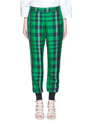 Main View - Click To Enlarge - Stella McCartney - 'Julia' gingham check elastic back jogging pants