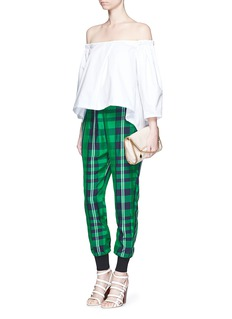 STELLA MCCARTNEY 'Julia' gingham check elastic back jogging pants