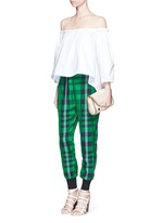'Julia' gingham check elastic back jogging pants