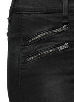 High waist biker denim pants