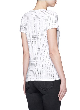 Back View - Click To Enlarge - rag & bone/JEAN - 'Base' segmented dot print T-shirt