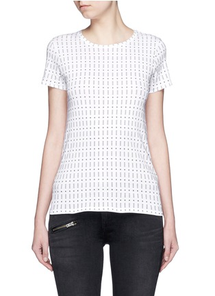Main View - Click To Enlarge - rag & bone/JEAN - 'Base' segmented dot print T-shirt