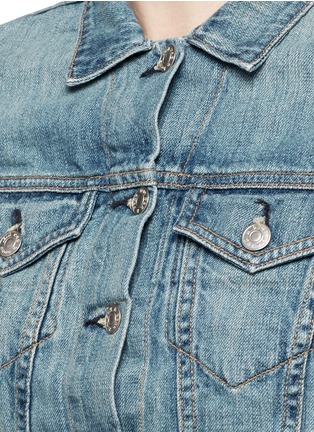 Detail View - Click To Enlarge - rag & bone/JEAN - 'The Jean' cropped denim jacket