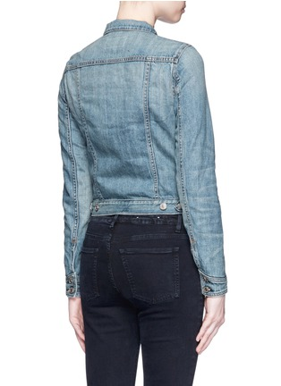 Back View - Click To Enlarge - rag & bone/JEAN - 'The Jean' cropped denim jacket