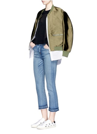 Figure View - Click To Enlarge - rag & bone/JEAN - '10 Inch Crop' straight leg cropped jeans